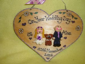3 character Wedding Day Anniversary Personalised 3d Heart shaped wooden Sign Personalised to Order Handmade Unique Keepsake Gift